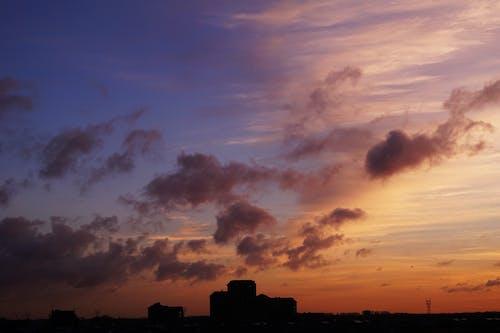 Foto profissional grátis de alvorecer, cênico, céu, cidade