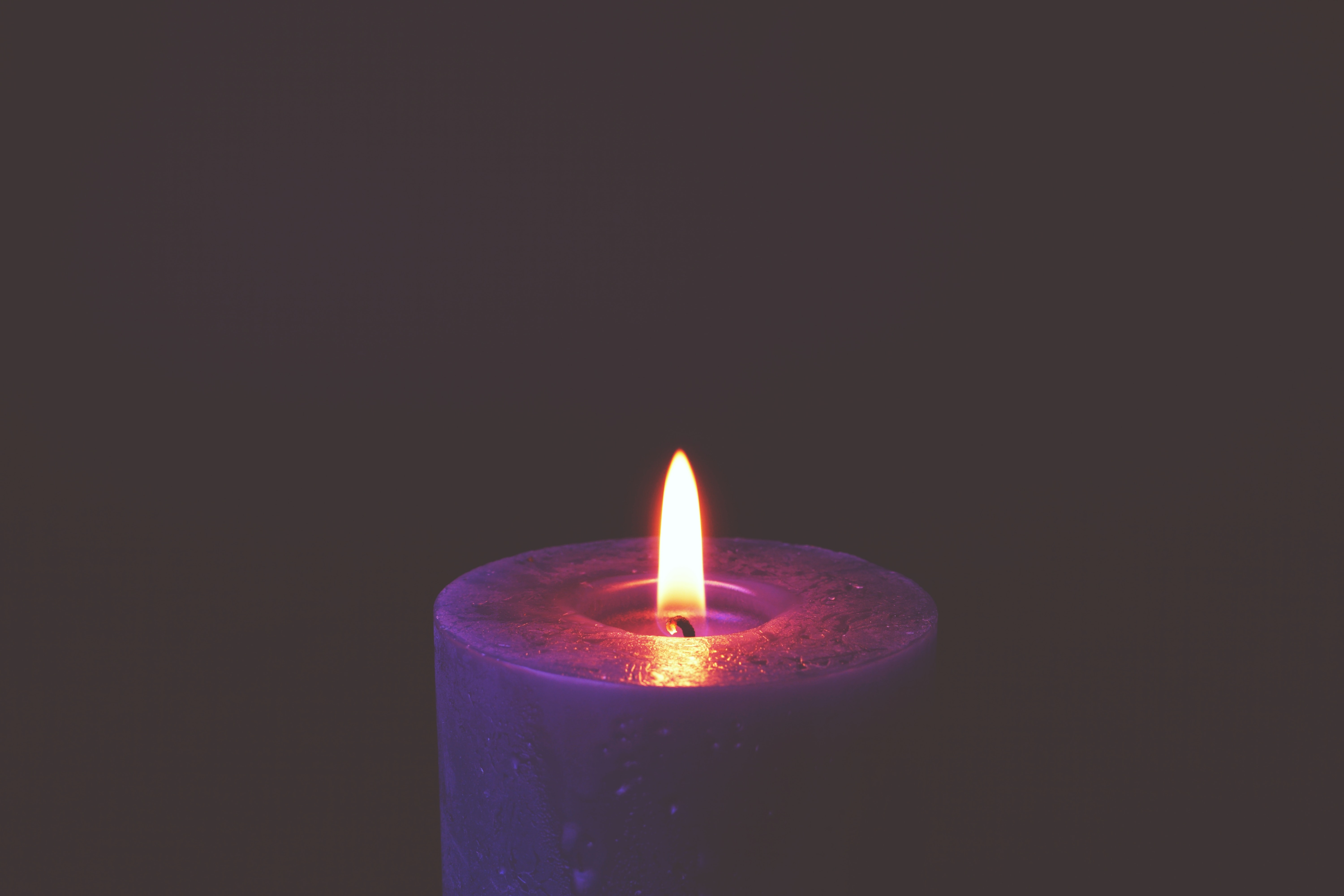 Lighted Candle Free Stock Photo