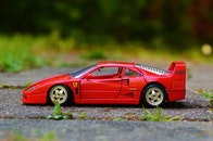red, sports car, miniature