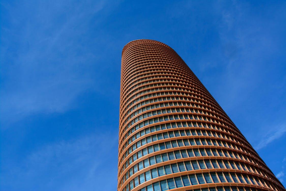 arquitectura, cel, edifici