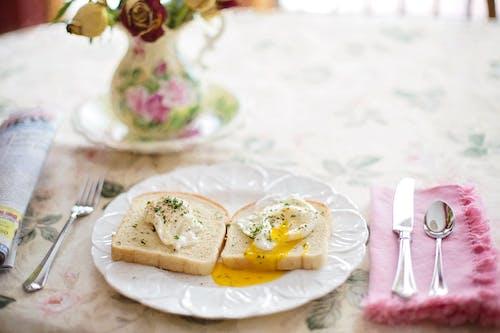 刀具, 叉子, 早餐, 盤子 的 免費圖庫相片