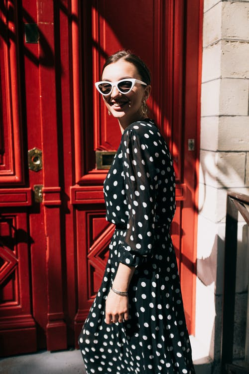 Photo of Woman Wearing Polka Dot Dress