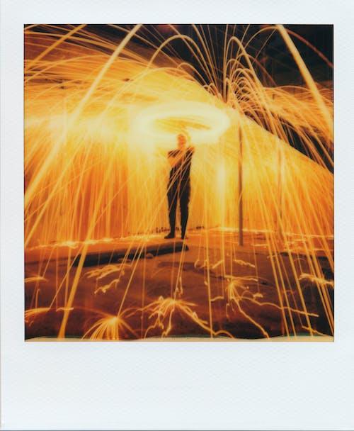 가벼운, 긴 노출, 불, 빛의 흔적의 무료 스톡 사진