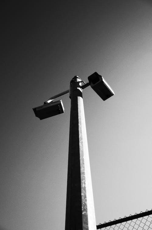 CCTV, カメラ, セキュリティ, モノクロームの無料の写真素材