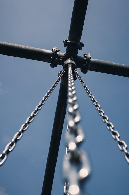 空, 鎖, 青の無料の写真素材