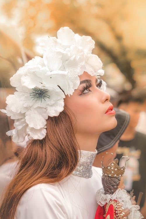 Free stock photo of angel, beautiful girl, fairy, flowers