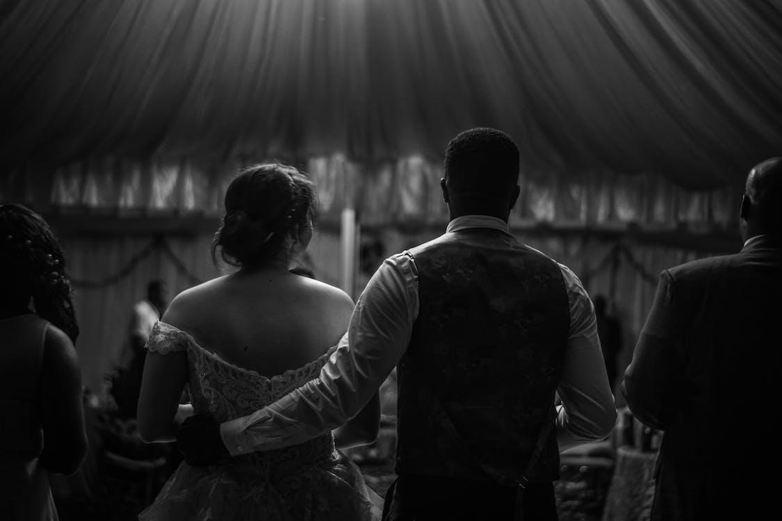 Fotos de stock gratuitas de blanco y negro, boda de kenia, silueta