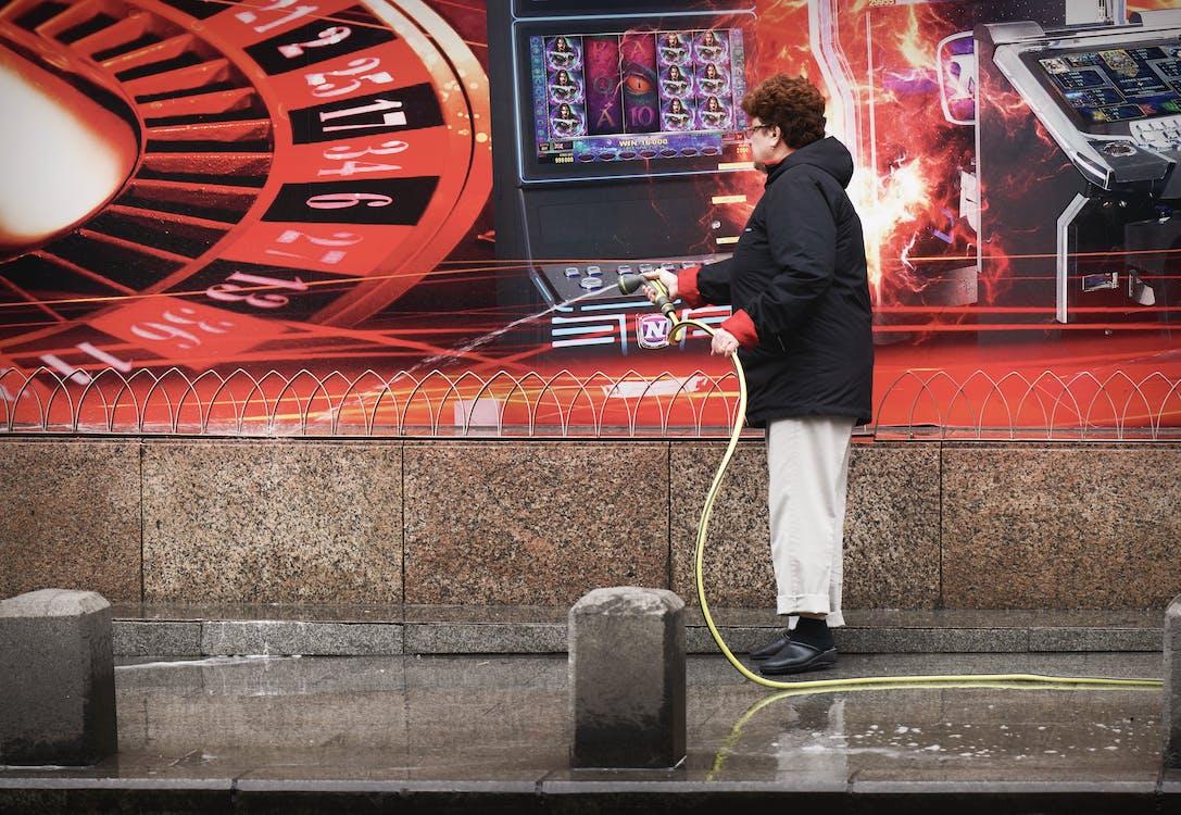 bruk, chodnik, czyszczenie