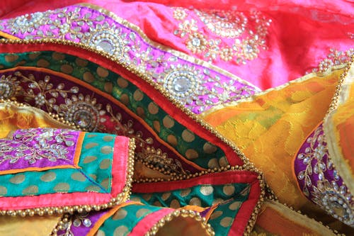 Free stock photo of colourful, ethnic, material, sarees