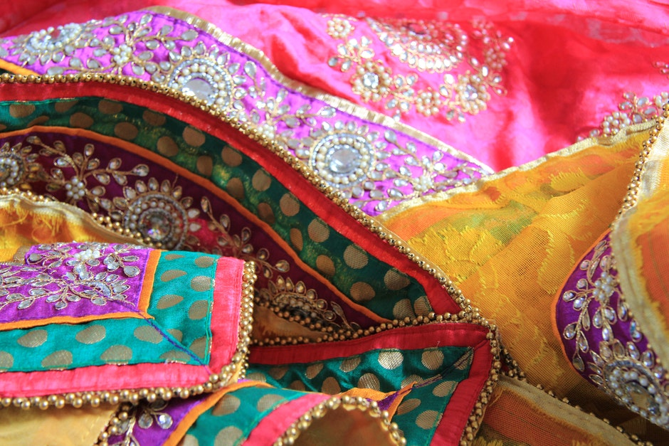 colourful, ethnic, material