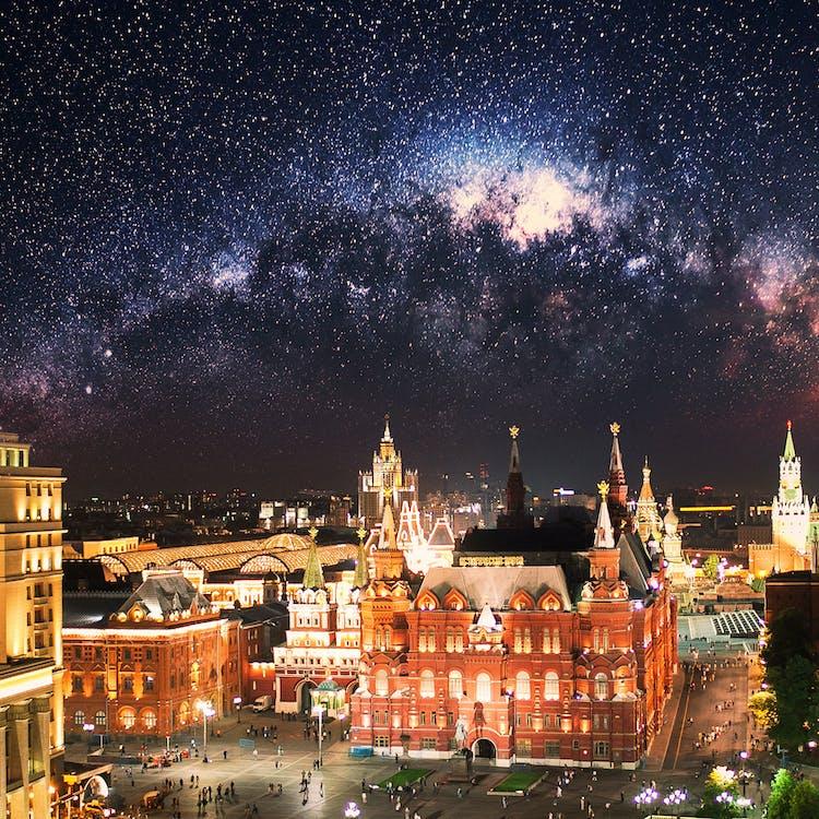 克里姆林宫, 天空, 空間