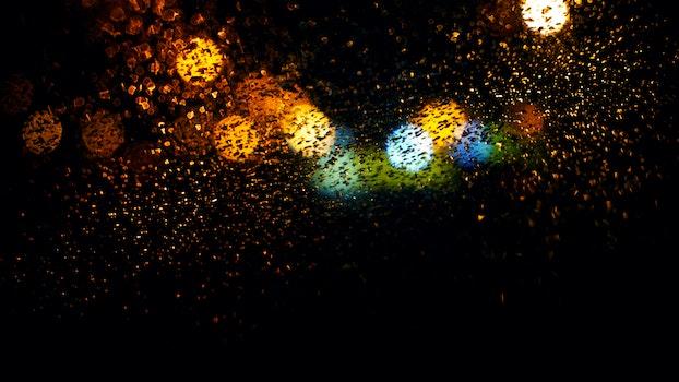 HD wallpaper of art, lights, water, dark