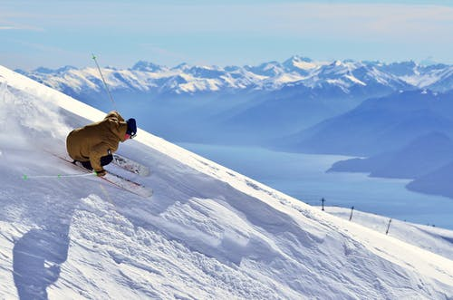 photo of a man skiing