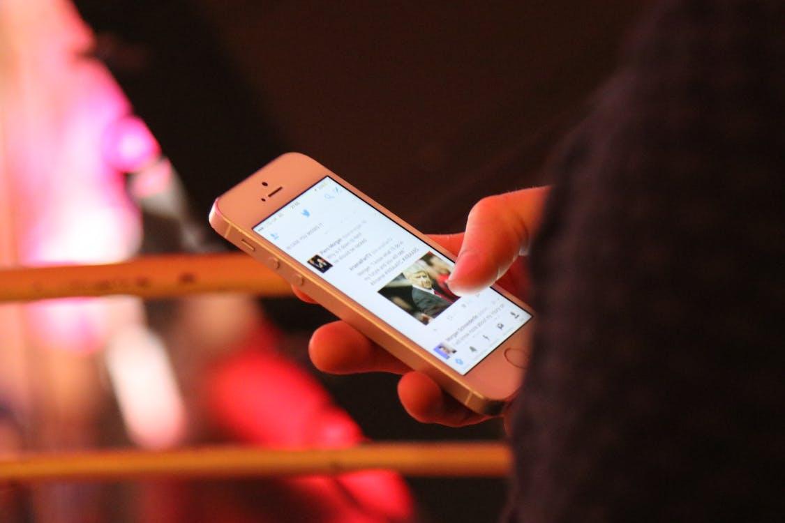 Free stock photo of phone, twitter