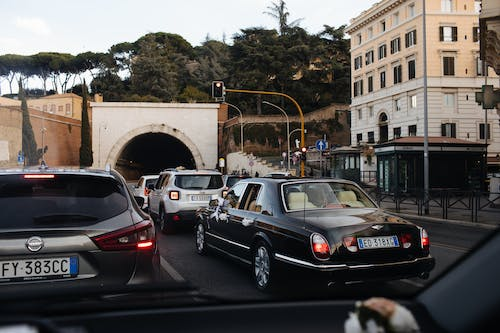 Free stock photo of bentley, cars, city, rome