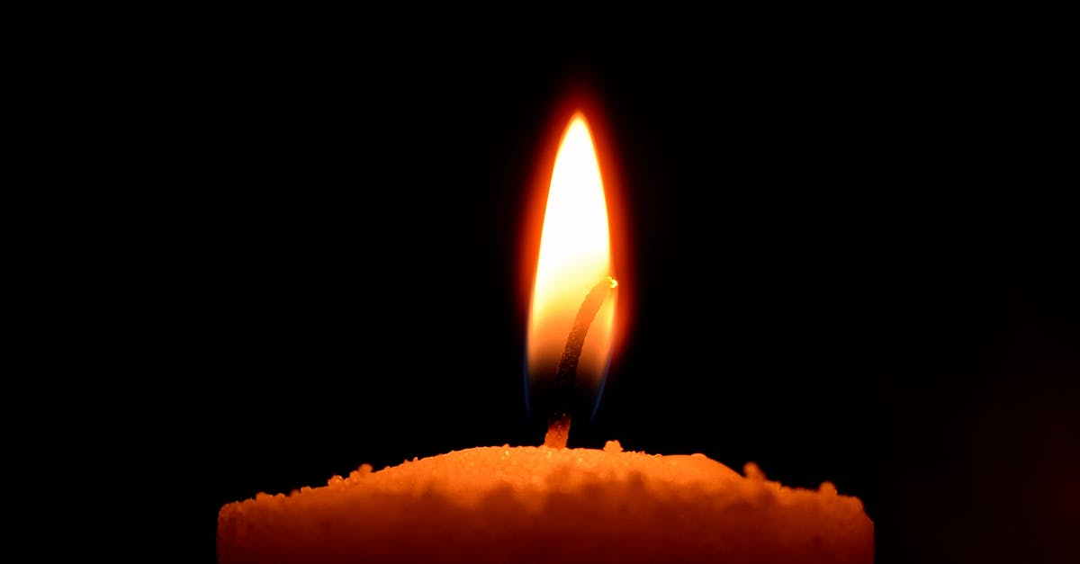 Candle on Black u003cbu003eBackgroundu003c/bu003e · Free Stock Photo