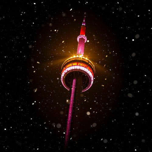 下雪, 冬季, 加拿大, 加拿大國家電視塔 的 免费素材照片