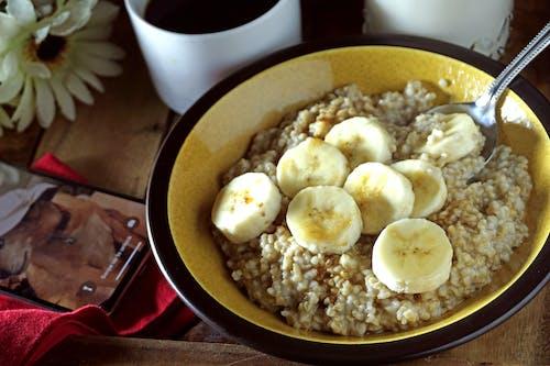 早餐, 燕麥片, 香蕉 的 免費圖庫相片