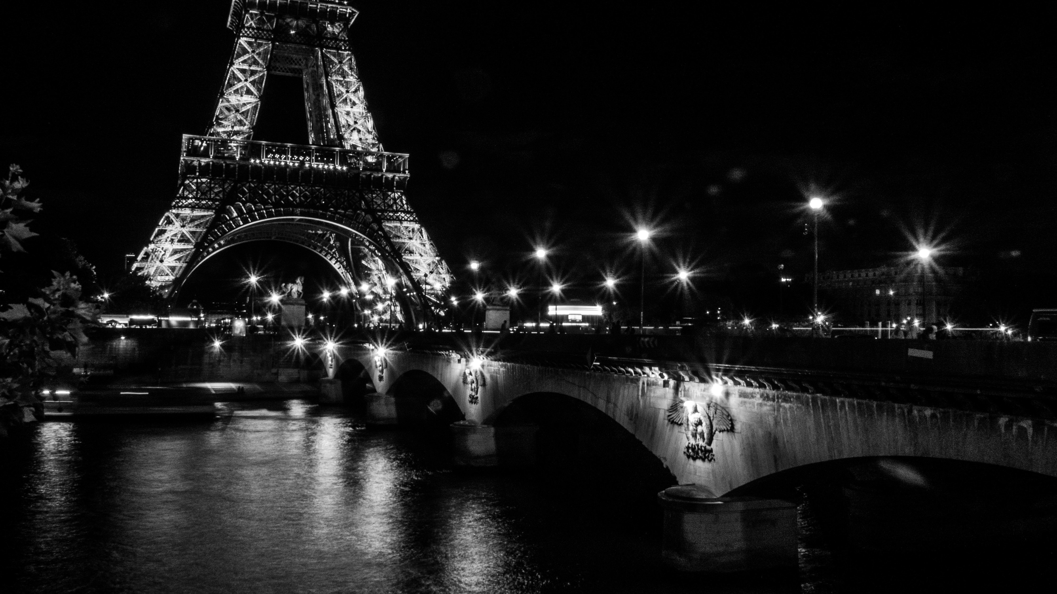 Free Stock Photo Of Eiffel Tower Evening Long Exposure