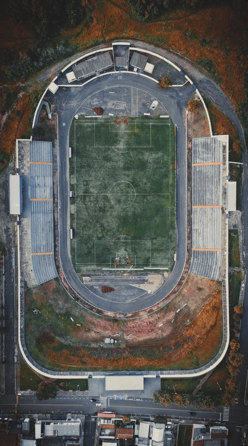 Aerial View of Green and Brown Field