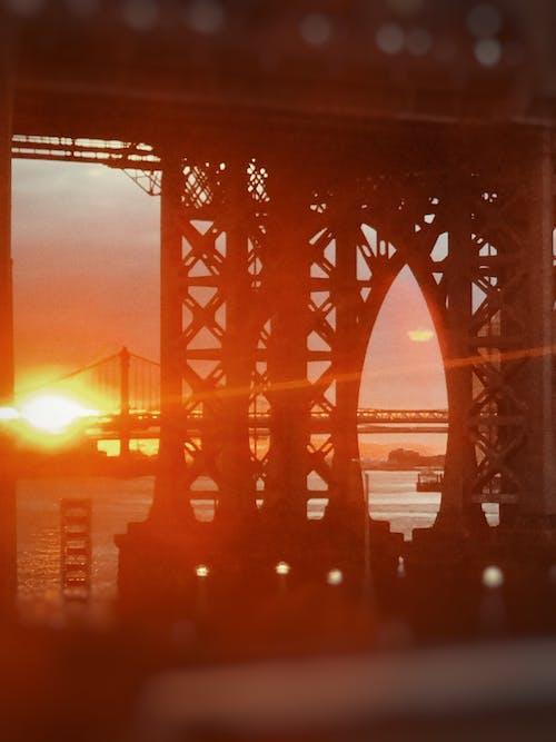 Free stock photo of east river, film grain, manhattan, new york city