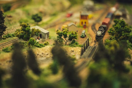 Miniature Toy Train