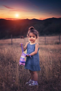 Free stock photo of sunset, person, girl, child