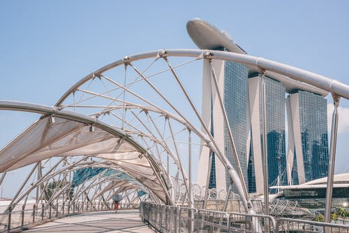 Free stock photo of helix bridge, Marina Bay Sands, singapore