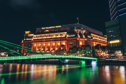 Free stock photo of Fullerton Hotel, nightlife, singapore