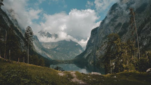Free stock photo of alps, clouds, mirroring