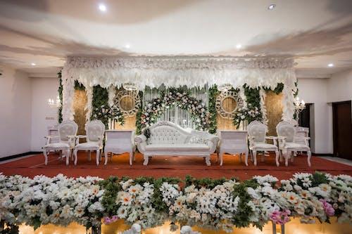 결혼식, 결혼식 날, 결혼식 세팅, 꽃의 무료 스톡 사진