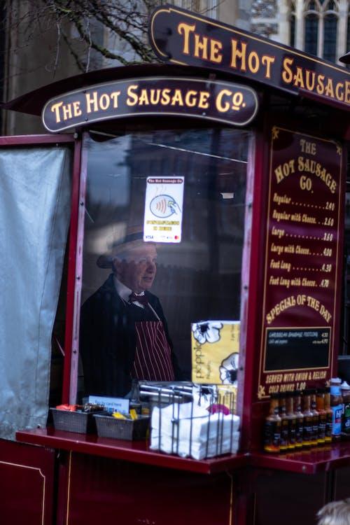 Free stock photo of fast food, food, Food van, old man