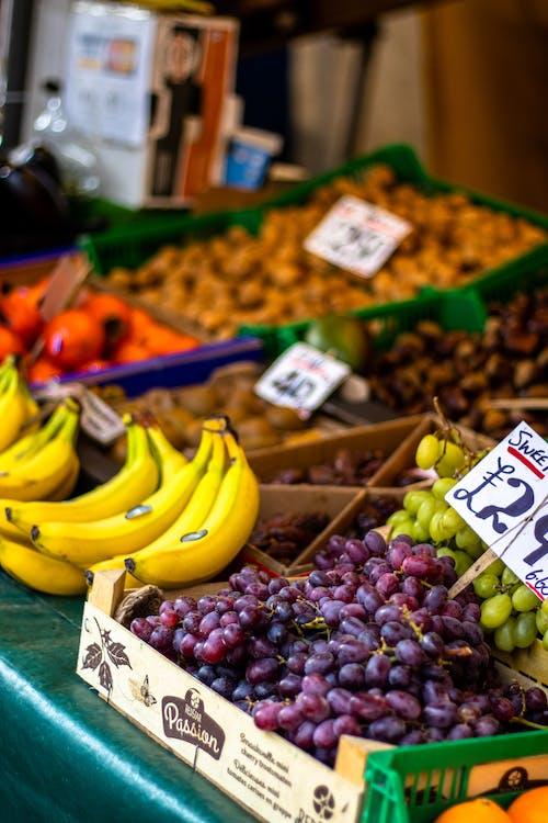 Free stock photo of banana, bowl of fruit, fruit, Fruit stall