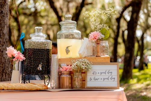 Fotos de stock gratuitas de arboles, baby shower, bebida, bote de cristal