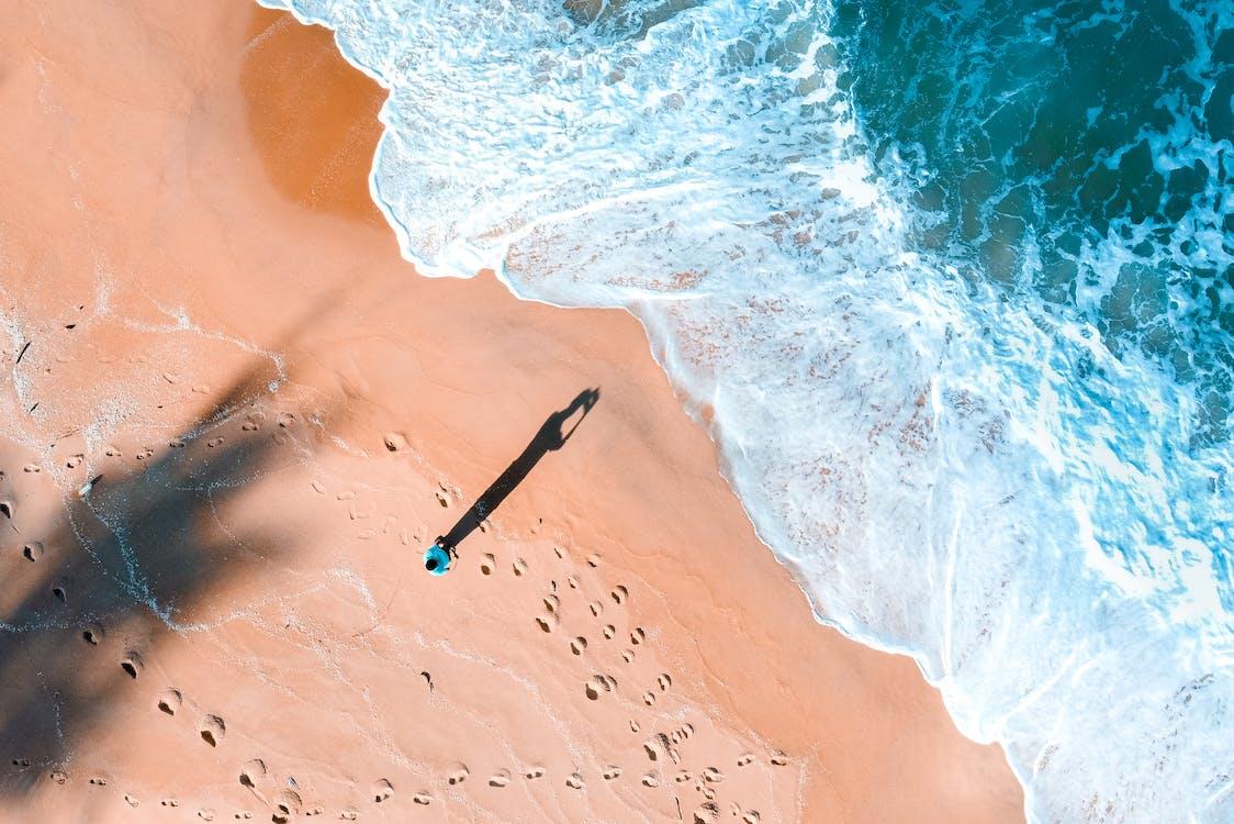 cień, fotografia lotnicza, fotografia z drona