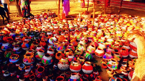 Free stock photo of colorful, festival, pots
