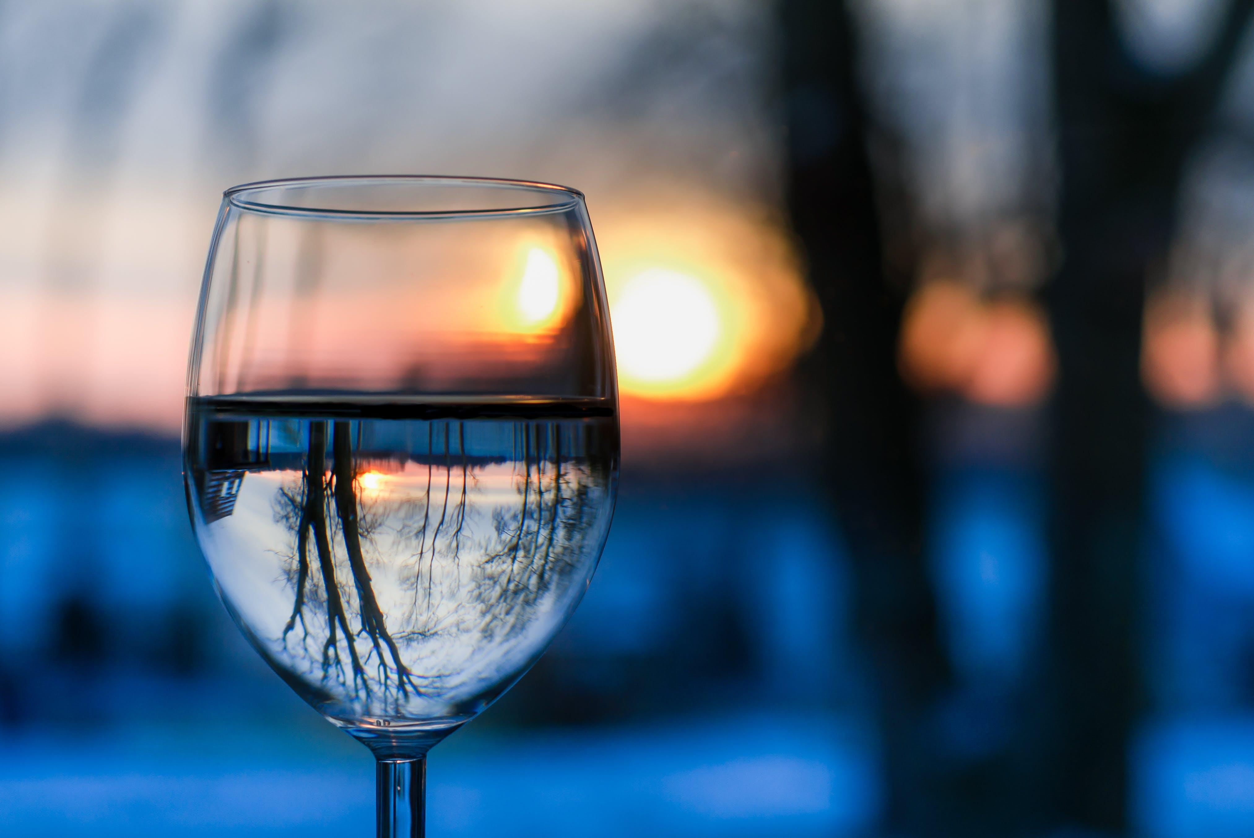 Free stock photo of sunset, water, sun, winter
