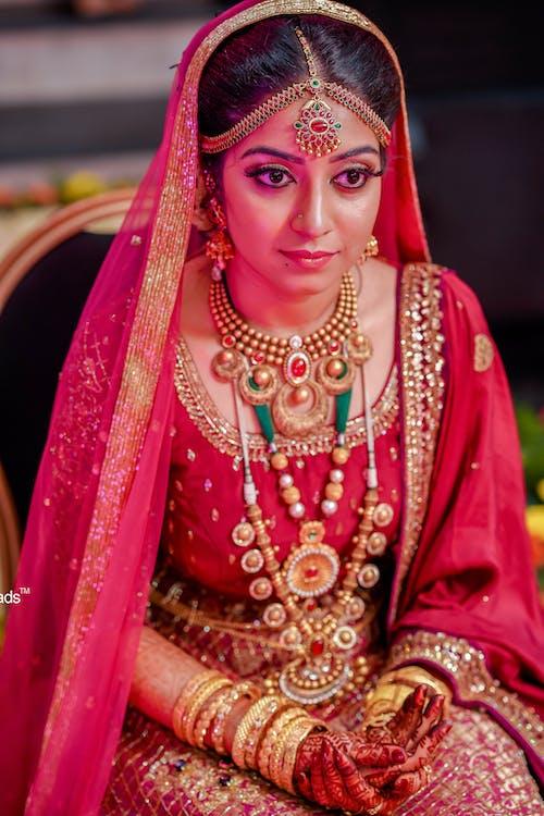 Free stock photo of beautiful bride, bridegroom, indian bride