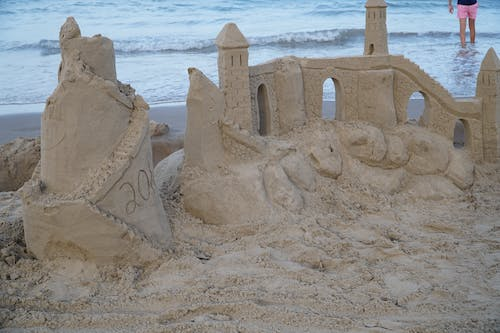 Free stock photo of beach, sand castel, south padre island
