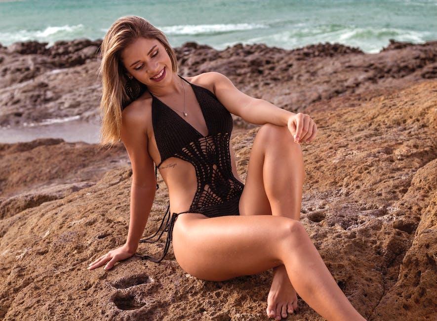 beach, legs, lingerie