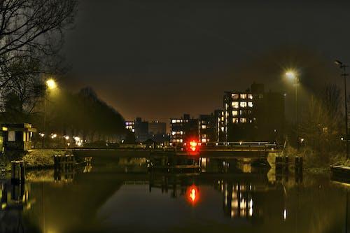 Gratis lagerfoto af bro, by, bygninger, nat