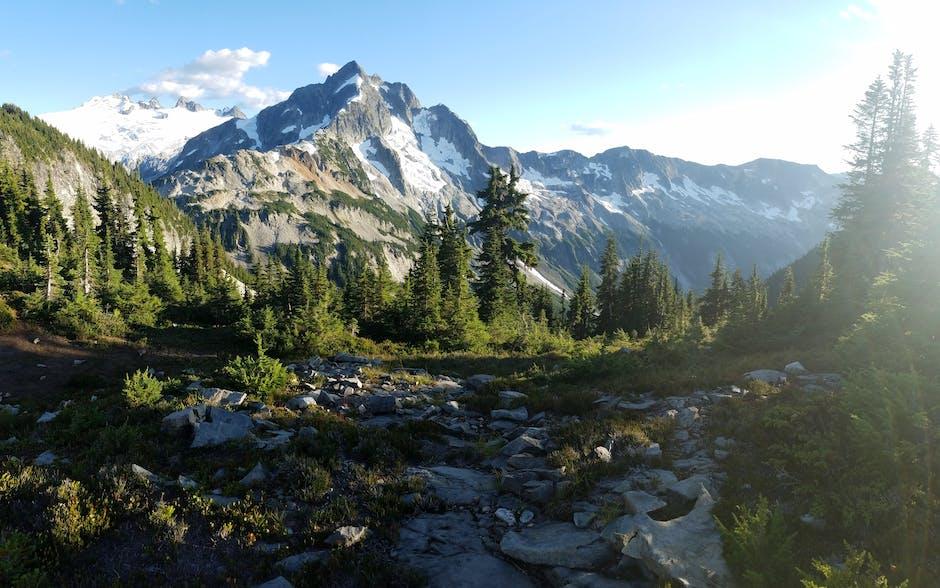 Green Forest Near Mountain Range Under Clear Sky 183 Free