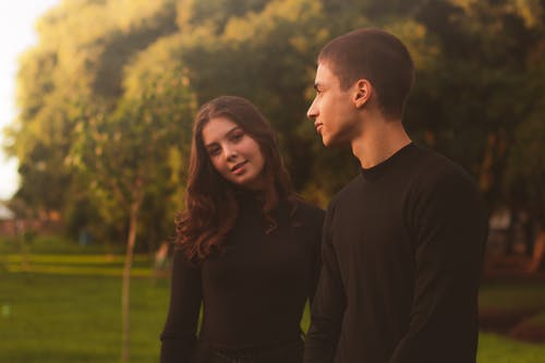 Free stock photo of blur background, couple, evening sun