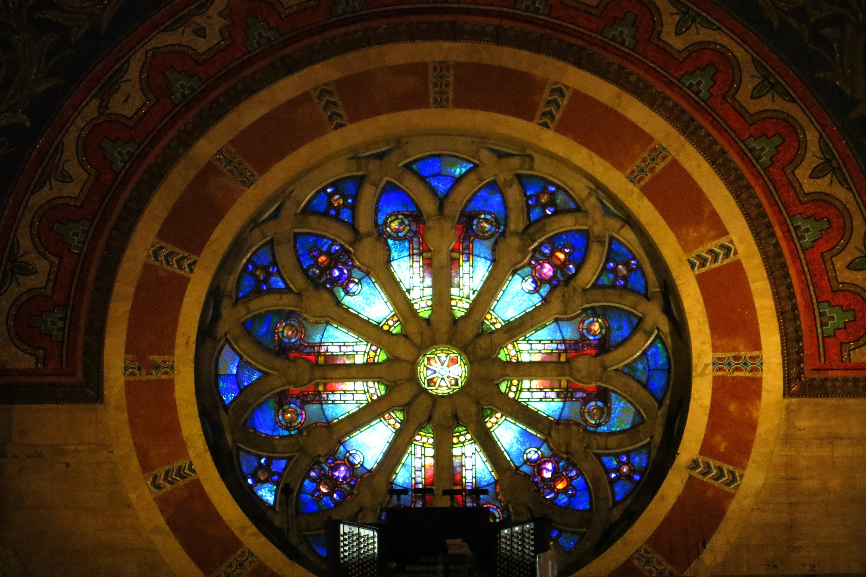 Free stock photo of blue, church, design, glowing