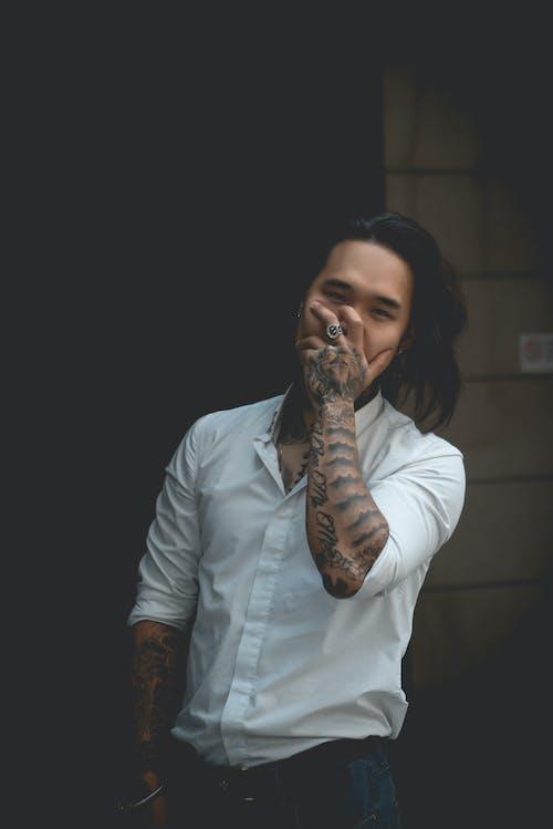 Photo Of Man Wearing Dress Shirt