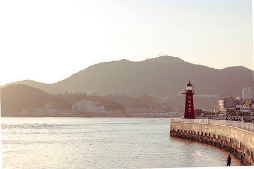 Photos gratuites de architecture, brouillard, corée du sud, étendue d'eau