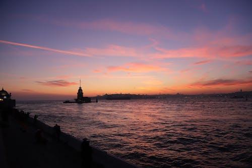 Free stock photo of beach sunset, Istanbul, sunset, sunset colors