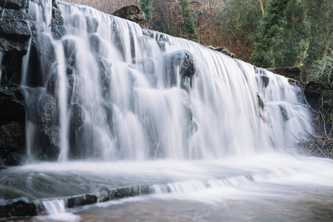 Time-Lapse Photo Of Falls During Daytime