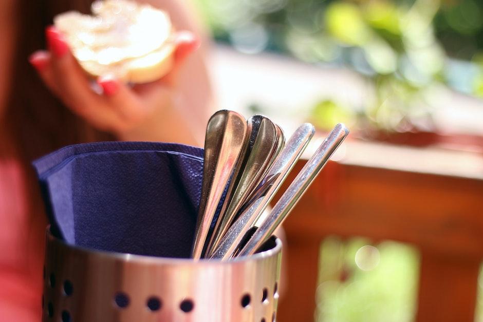 cutlery, flatware, lunch
