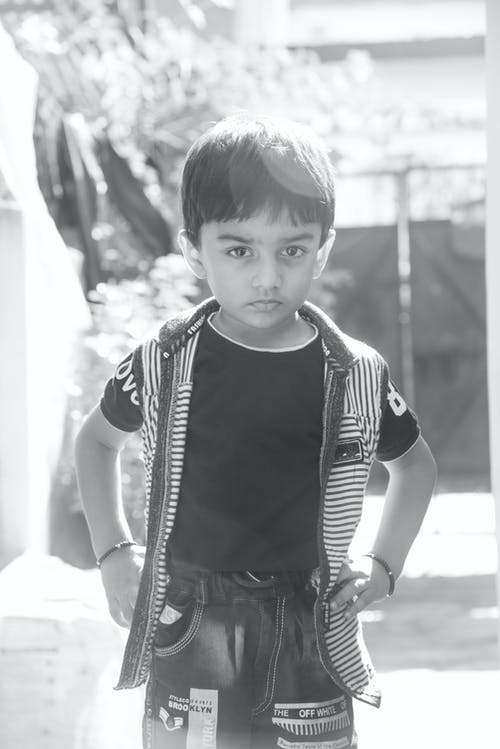 Free stock photo of baby portrait, backlit, indian boy